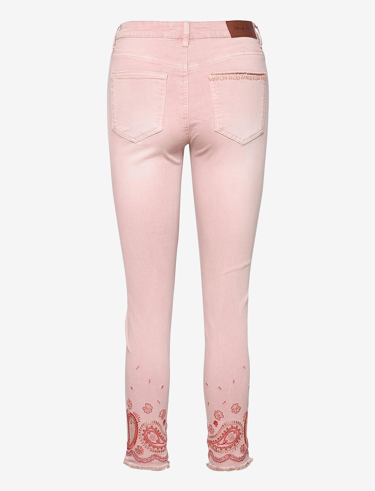 Desigual - PANT ANKLE PAISLE - rosa palo - 1