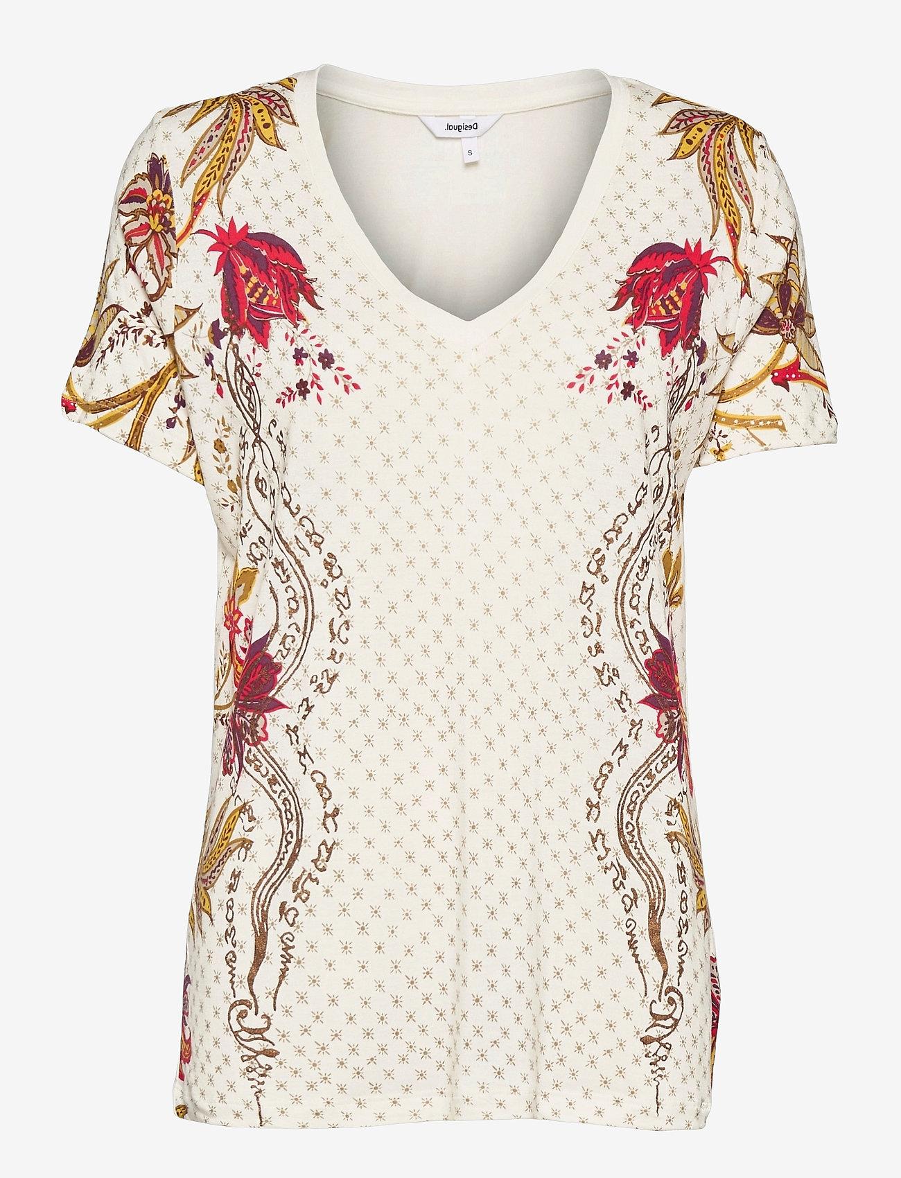 Desigual - TS PRAGA - t-shirts - blanco - 0