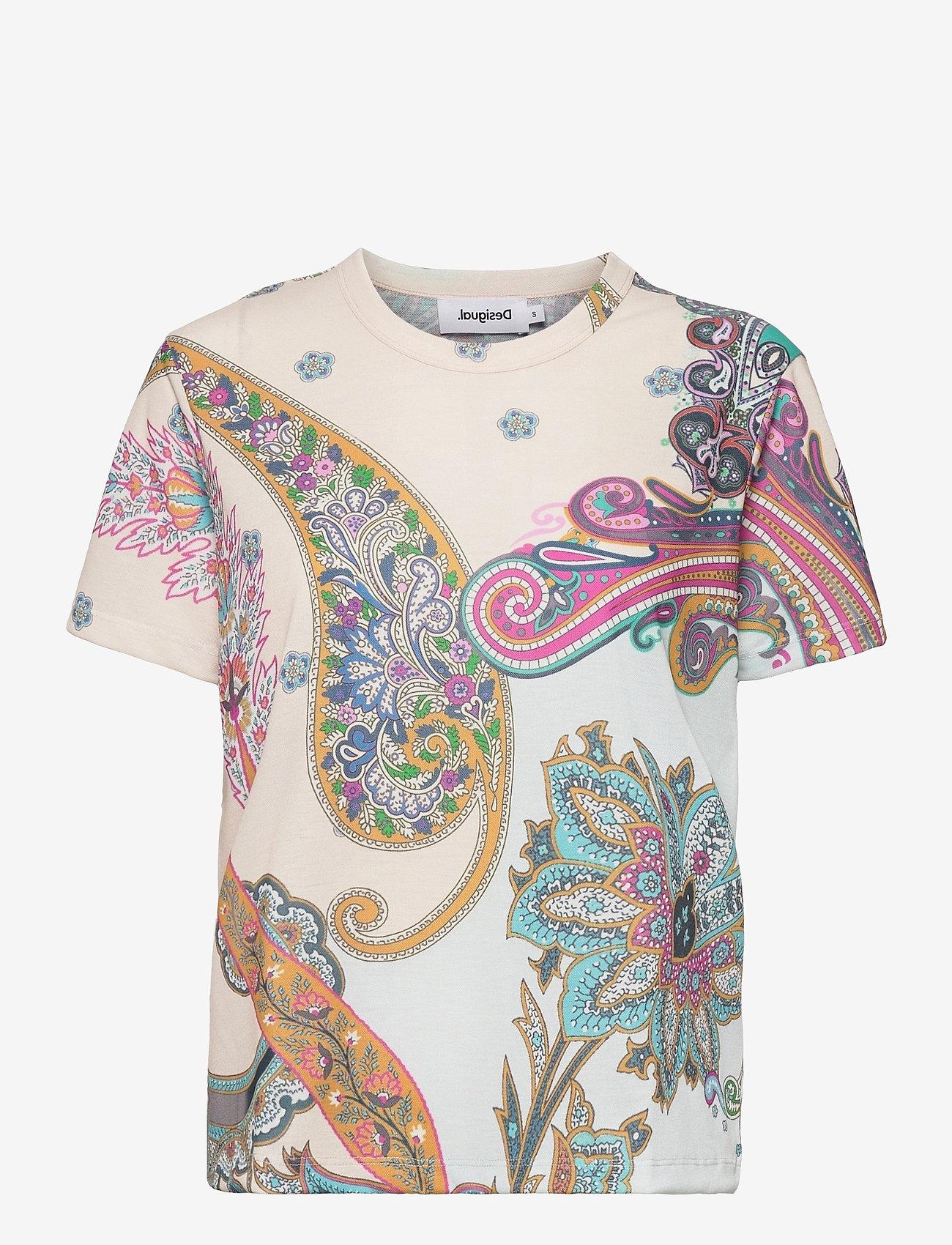 Desigual - TS POPASLEY - t-shirts - crudo - 0