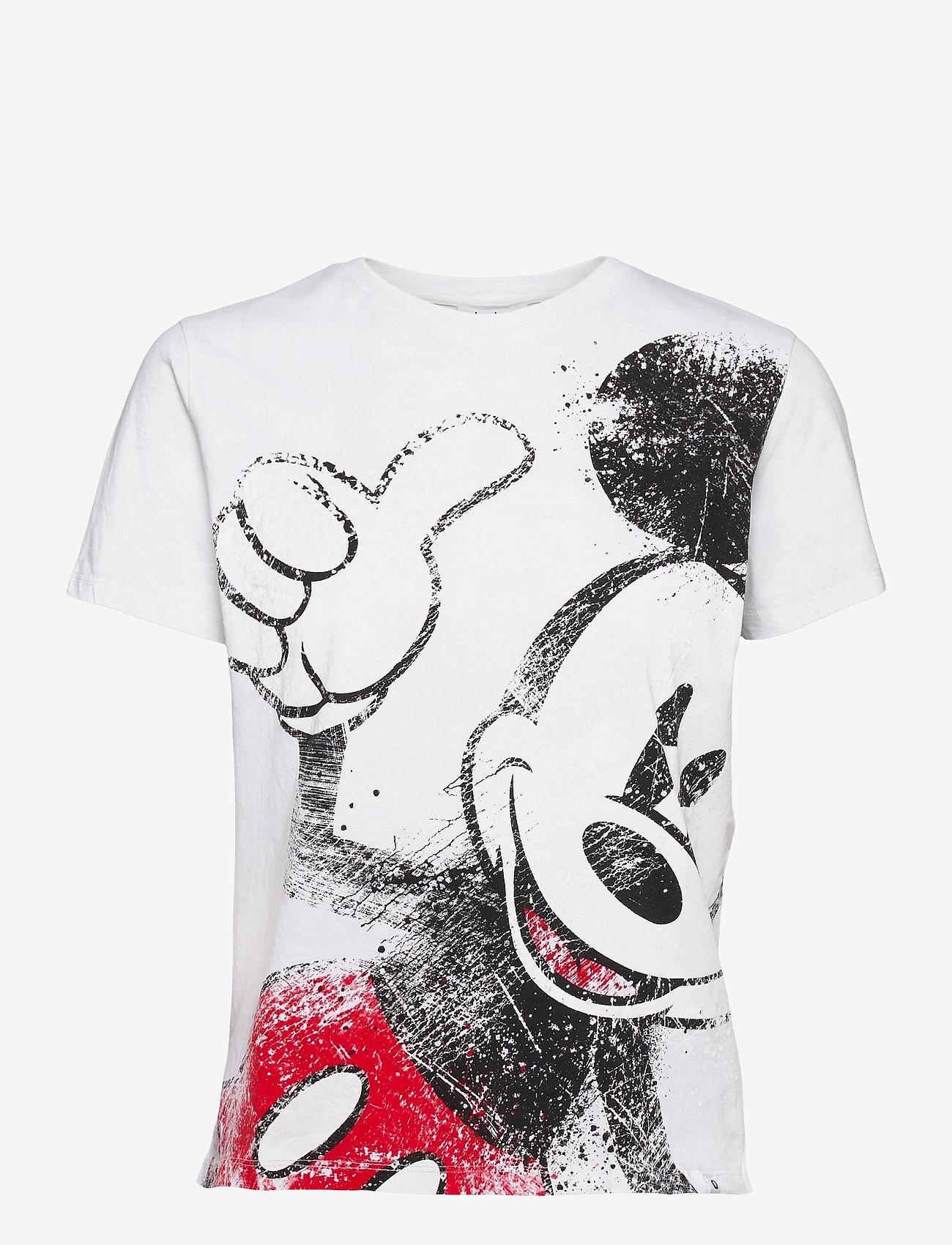Desigual - TS OK MICKEY - t-shirts - blanco - 0
