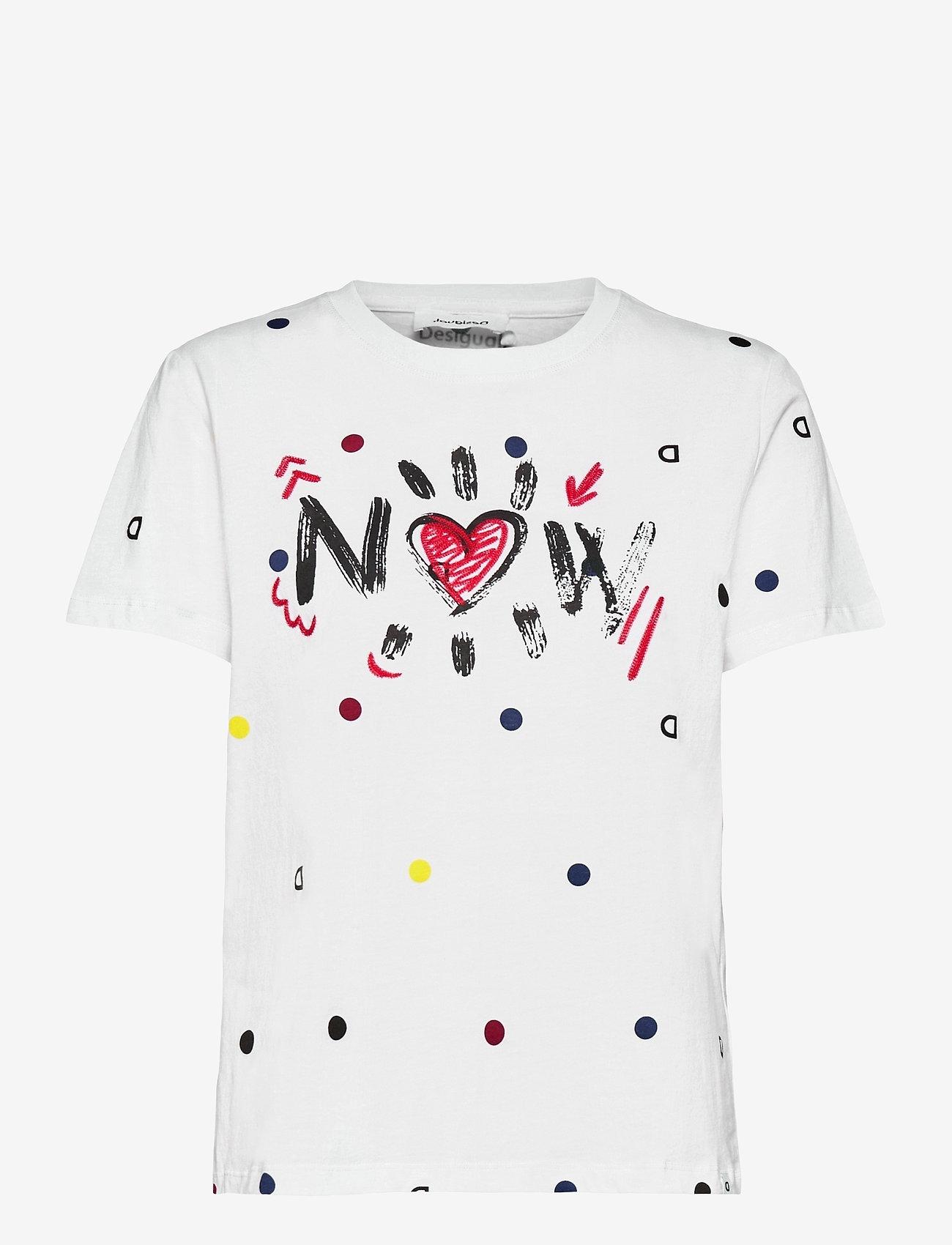 Desigual - TS NOW - t-shirts - blanco - 0