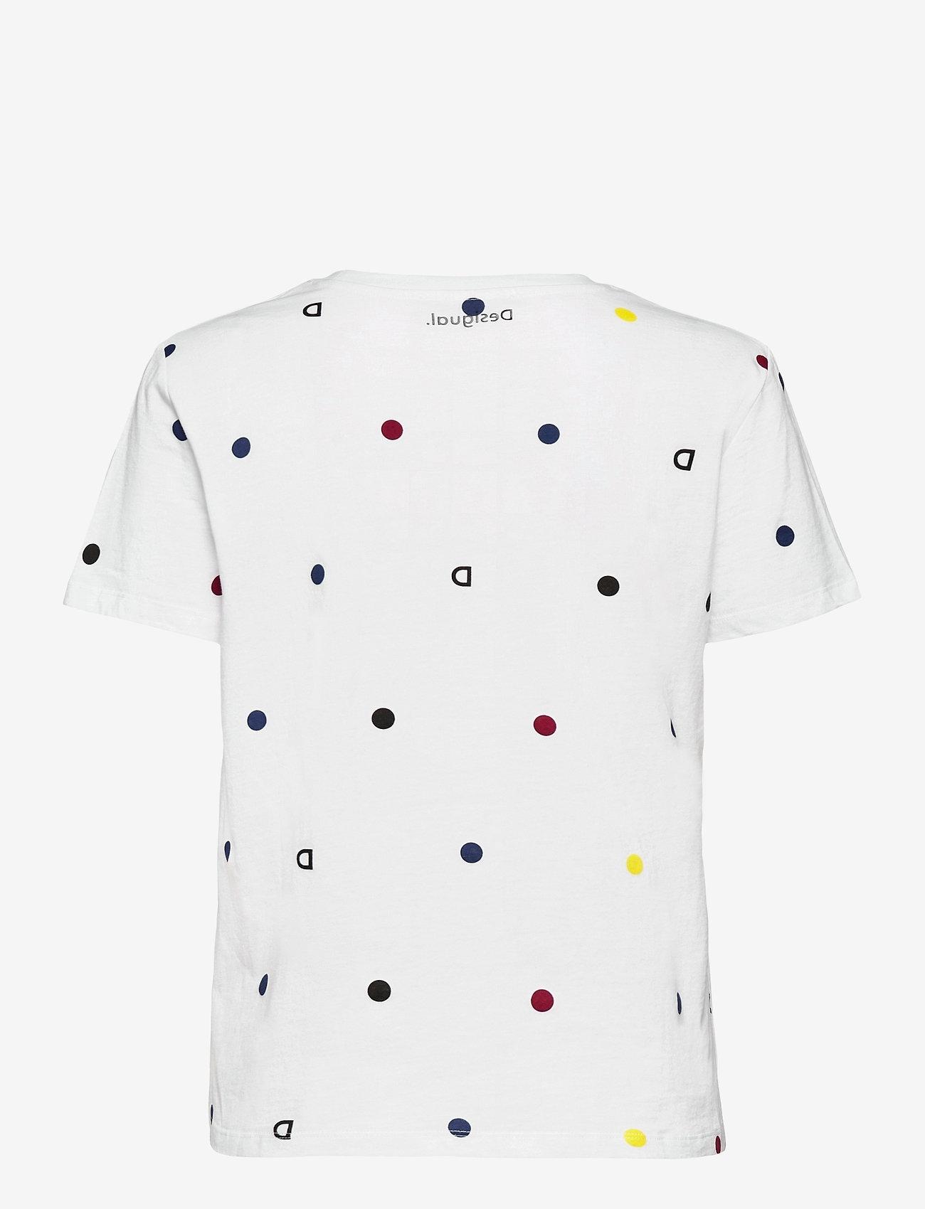 Desigual - TS NOW - t-shirts - blanco - 1
