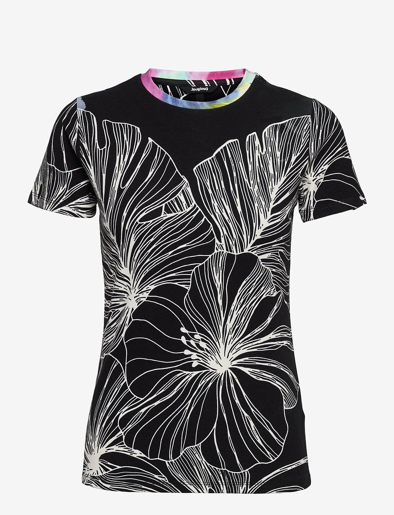 Desigual - TS LEAVES - t-shirts - negro - 0