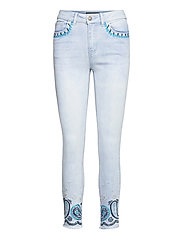 DENIM ANKLE PAISL - DENIM BLEACH