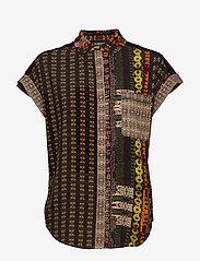 Desigual - CAM PAVIA - overhemden met korte mouwen - caqui - 0
