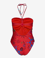 Desigual - BIKI CRETA - maillots 1 pièce - rojo clavel - 1