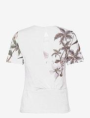 Desigual - TEE CROSSED OPEN BACK LI - t-shirts - blanco - 1