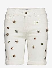 Desigual - DENIM GRECIA - jeansshorts - blanco nieve - 0