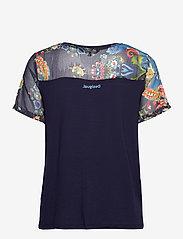 Desigual - TS VIENA - t-shirts - peacoat - 1