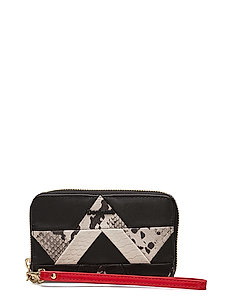 MONE SNAKE PATCH MINI ZIP - NEGRO