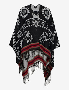 PONCHO FREEDOM REVERSIBLE - ponchos en capes - negro
