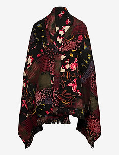 PONCHO FREE STYLE PATCH R - ponchos & capes - negro