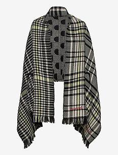 PONCHO MONOGRAM REVERSIBL - ponchos en capes - negro