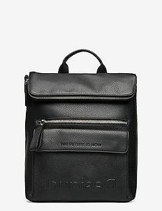 BACK EMBOSSED HALF LOGO N - backpacks - negro