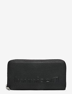 MONE EMBOSSED HALF FIONA - plånböcker - negro
