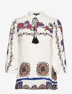 BLUS CAPRI - long sleeved blouses - blanco