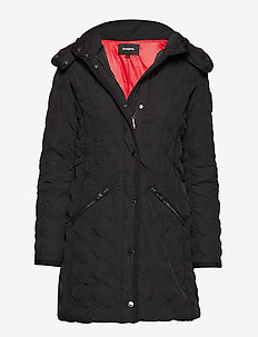 PADDED LEICESTER - quilted jakker - negro