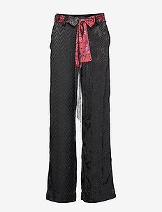 PANT TERRY - bukser med brede ben - negro