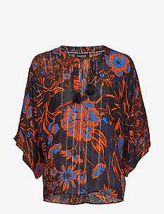 BLUS SIENA - long sleeved blouses - sunset