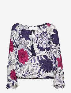 BLUS VERONA - long sleeved blouses - navy