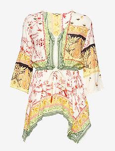 BLUS MANTUA - long sleeved blouses - crudo