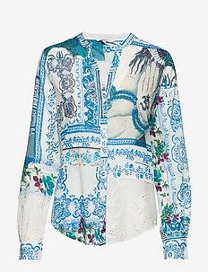 CAM SORRENTO - long sleeved blouses - directoire  blue