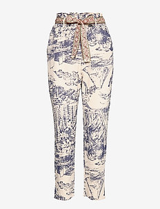 PANT TROPICAL - straight leg trousers - crudo