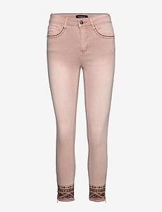 PANT AFRI - jeans slim - rosa palo
