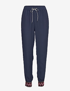 PANT ISABELLA - casual trousers - marino