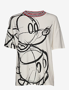 TS LOVE MICKEY - t-shirts - blanco