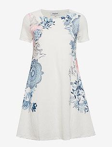 VEST CHARLOTTE - sukienki do kolan i midi - blanco