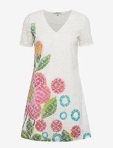 VEST DENIS - korte jurken - blanco