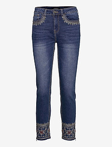 DENIM ROUS - dżinsy skinny fit - denim dark blue