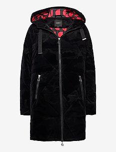 PADDED OLYA - wełniane płaszcze - negro