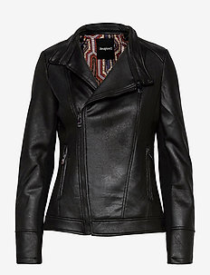 CHAQ SVEN - leather jackets - negro