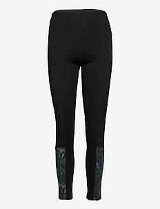 PANT SNAKE LADY - leggings - negro