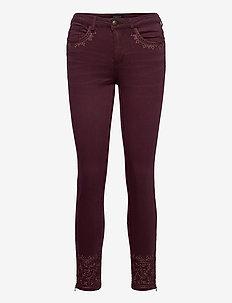 PANT BALI - pantalons slim - borgoÑa