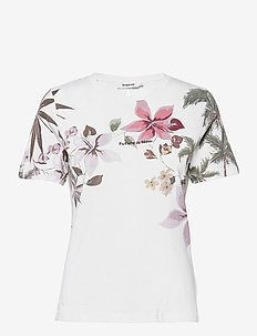 TEE CROSSED OPEN BACK LI - t-shirts - blanco