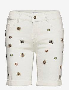 DENIM GRECIA - jeansshorts - blanco nieve