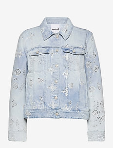 CHAQ CALM - jeansjackor - denim light wash