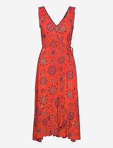 VEST SANTORINI - sommerkjoler - rojo clavel