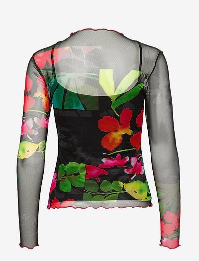 Desigual Ts Spring Garden- T-shirts & Tops Negro
