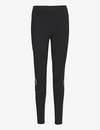 LEGGING MANDALA SWISS EMB - leggings - negro