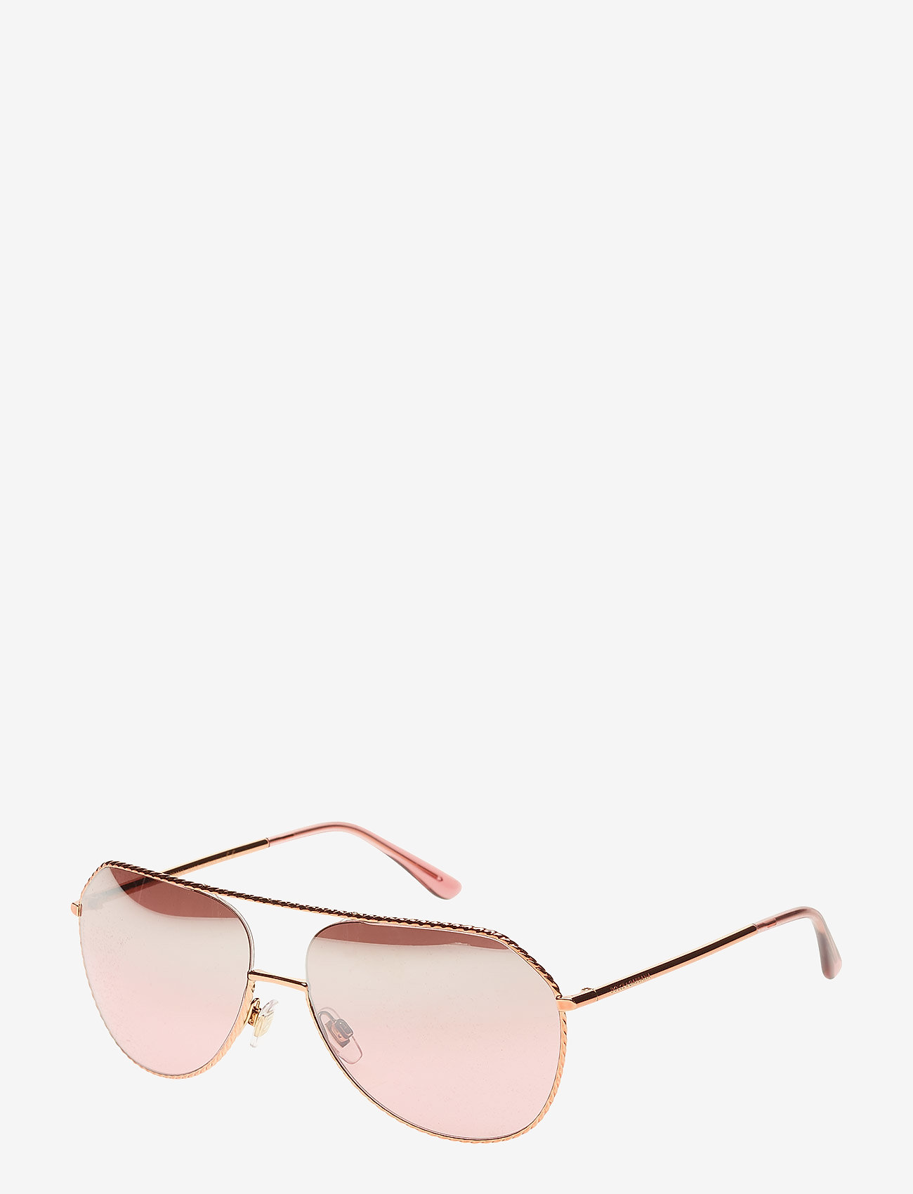 Dolce & Gabbana Sunglasses - WOMEN'S SUNGLASSES - okulary przeciwsłoneczne aviator - pink gold - 1