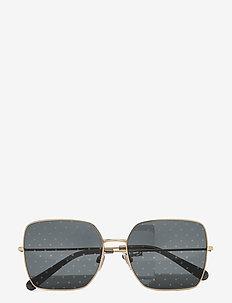 Sunglasses - square frame - dark grey tampo pois silver