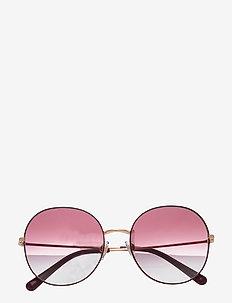 Sunglasses - rond model - clear gradient dark violet