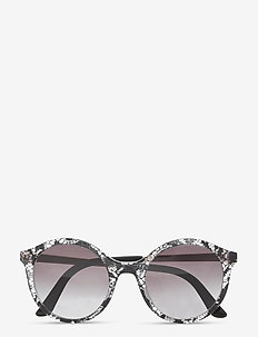 Sunglasses - round frame - gradient grey