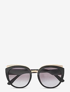 Sunglasses - cat-eye - light grey gradient black