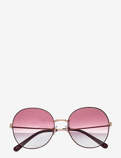 Sunglasses - runde form - clear gradient dark violet