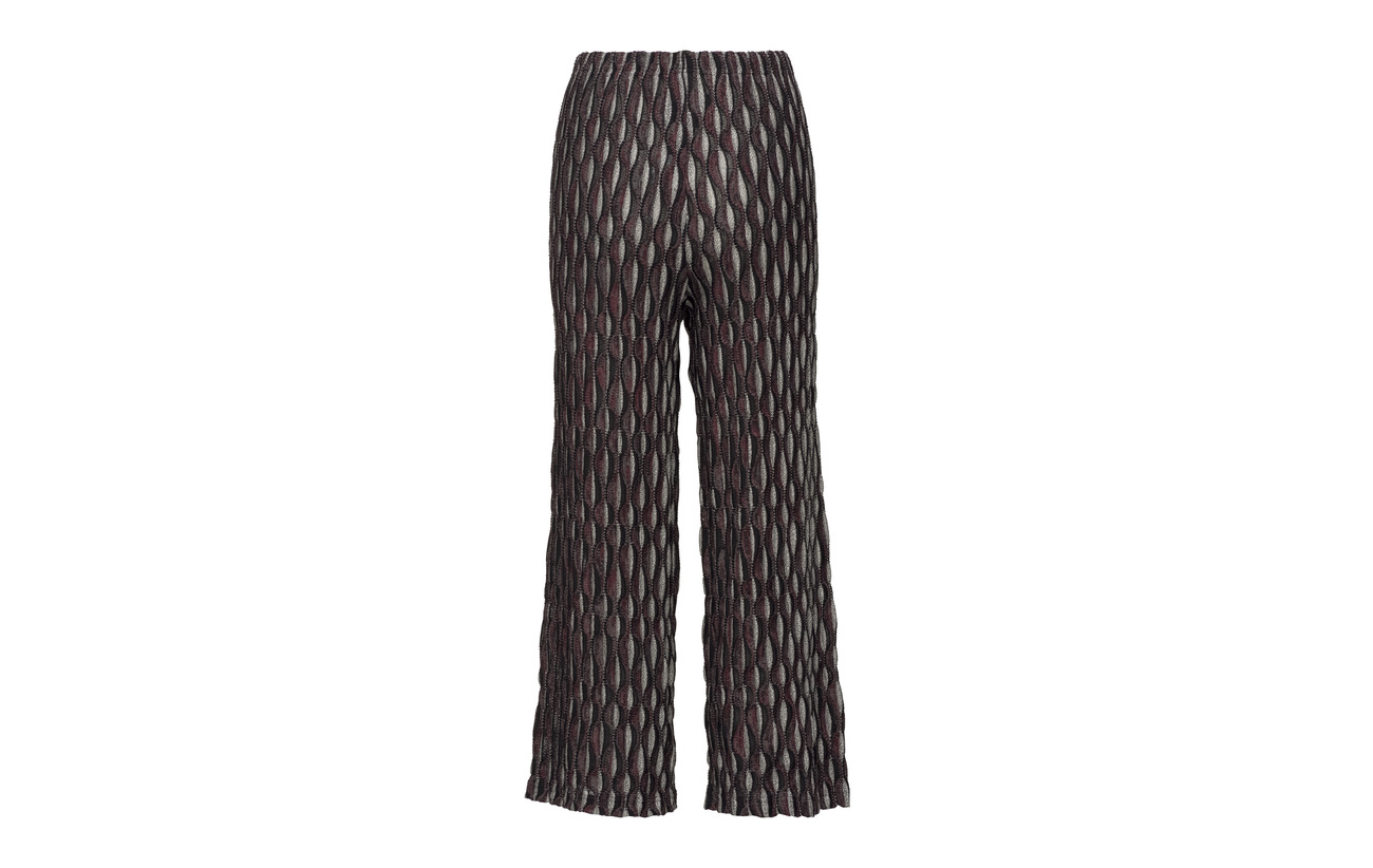 Coton 45 Elastane Trousers Diana Cropped Orving Bordeaux 2 Viscose 8 Polyamide IX1P1g
